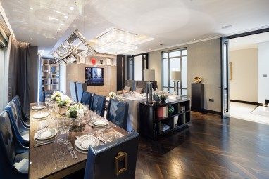 The Brummell Penthouse: Living and dining