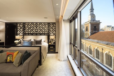 The Brummell Penthouse: Master suite (St James's Church by Christopher Wren in background)