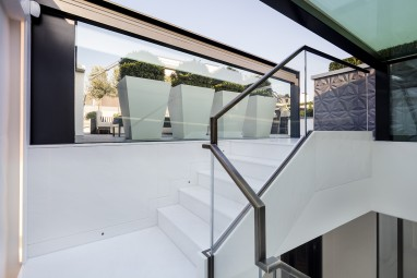 The Brummell Penthouse: Roof terrace entrance